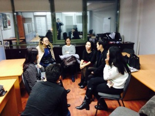 An exchange of ideas and talk about Singapore's education system