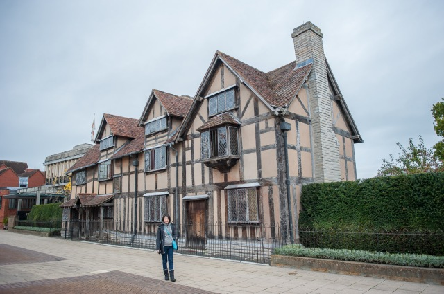 Tutor Yuet Ling outside Shakespeare's Birthplace and House Punggol Tuition English Math Science